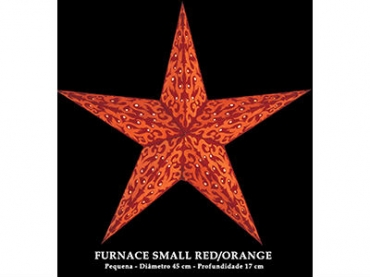 Candeeiro Estrela Starlightz Furnace Small Red/Orange