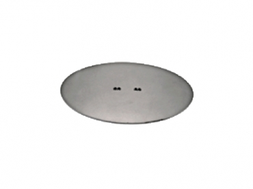 Base em Ferro Oval 360 mm x 220 mm MT191